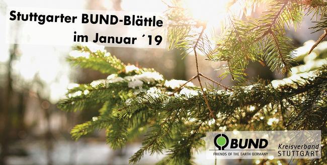 Stuttgarter BUND-Blättle Januar 2019 - BUND KV Stuttgart