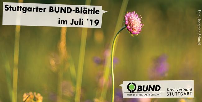 Stuttgarter BUND-Blättle Juli 2019 mit Schrift - BUND KV Stuttgart