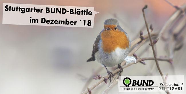 Stuttgarter BUND-Blättle Dezember 2018 mit Schrift - BUND KV Stuttgart