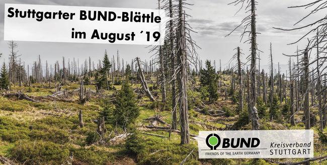 Stuttgarter BUND-Blättle August 2019 mit Schrift - BUND KV Stuttgart